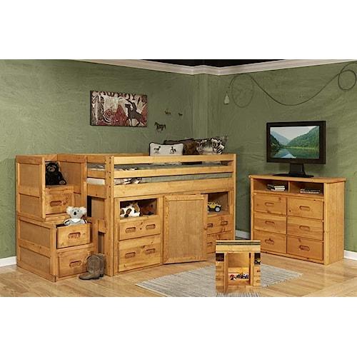 Trendwood Bunkhouse Loft Bedroom Group