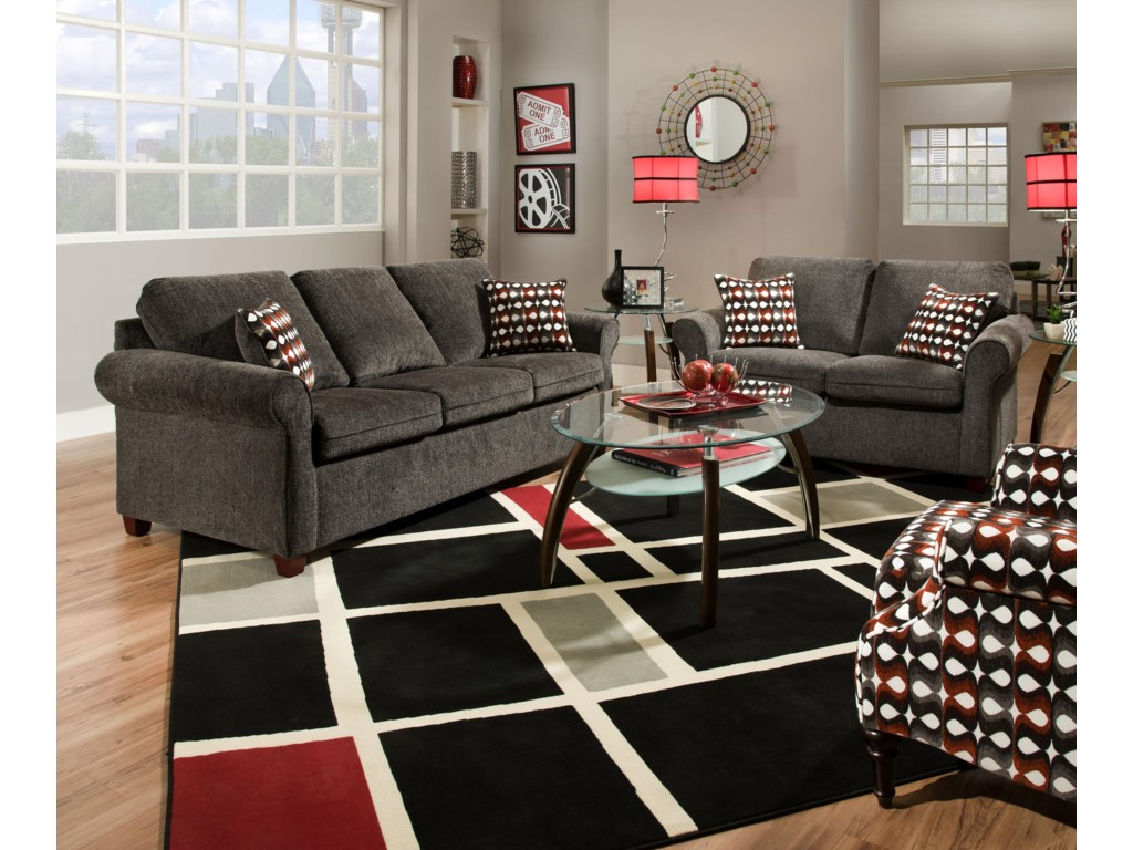 Simmons Upholstery 1630Stationary Living Room Group