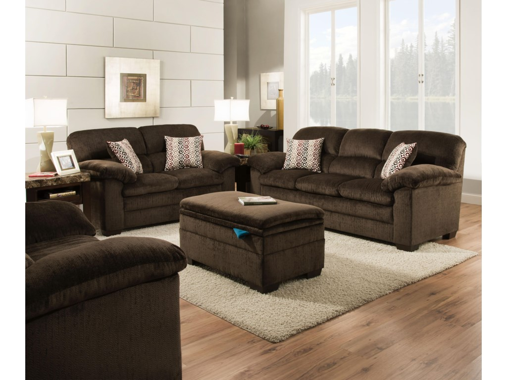 Blue Hill 3684Stationary Living Room Group