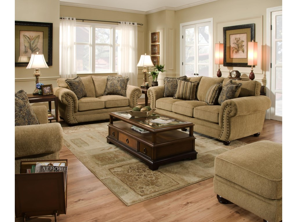 United Furniture Industries 4277Stationary Living Room Group