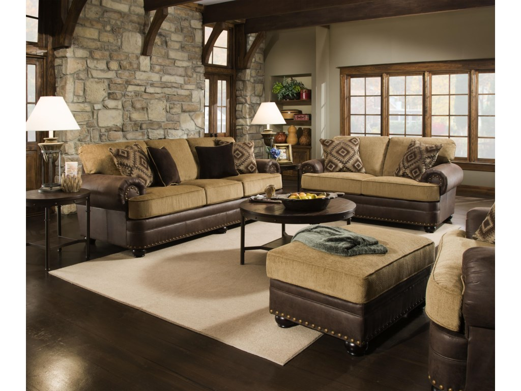 United Furniture Industries 7541Stationary Living Room Group