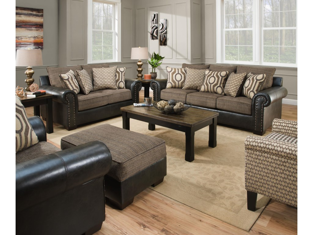 United Furniture Industries 7591Stationary Living Room Group