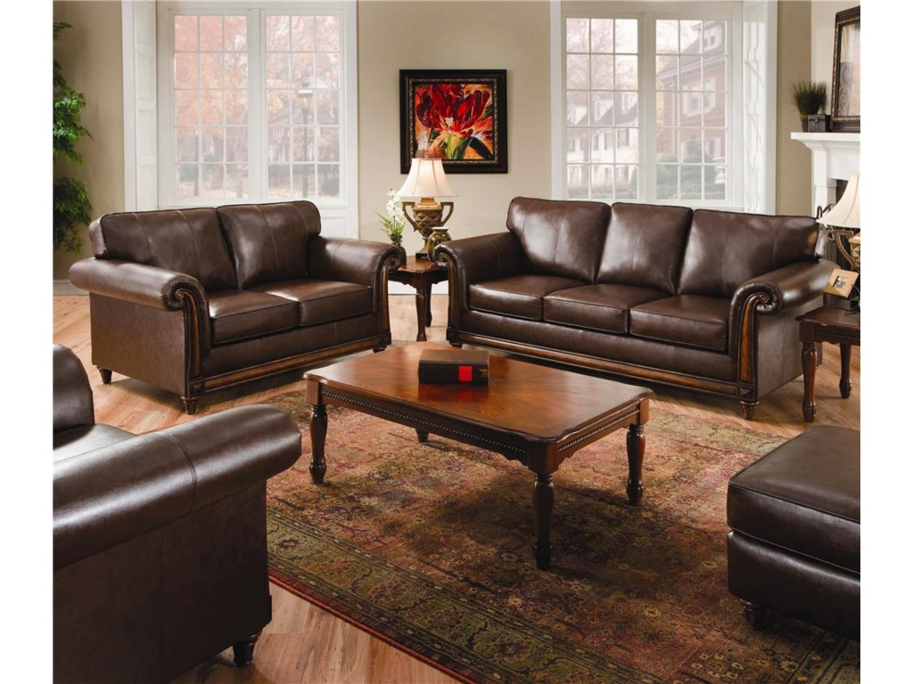 United Furniture Industries 8001Stationary Living Room Group