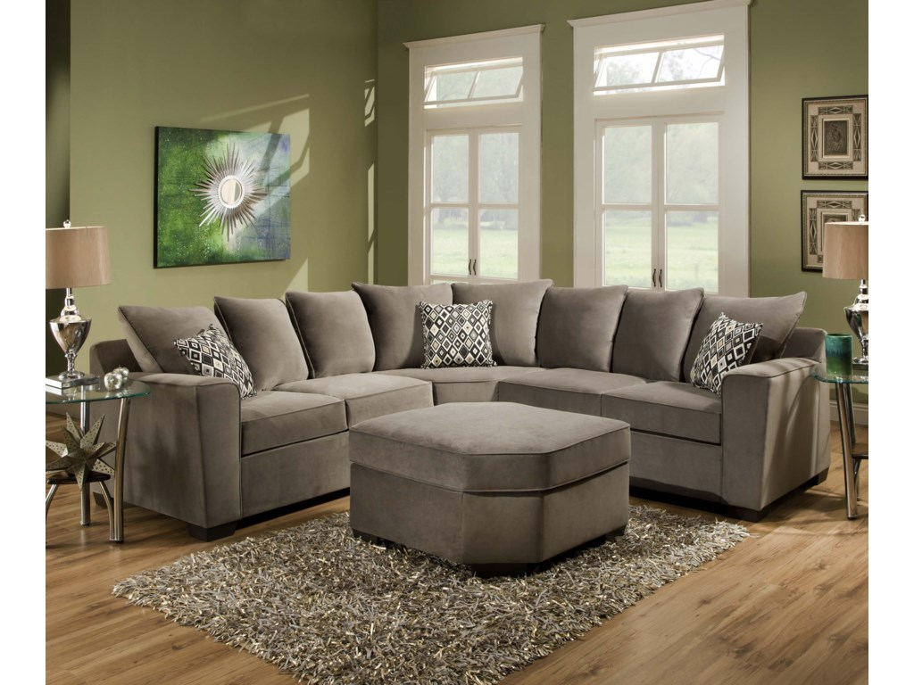 United Furniture Industries 9070Stationary Living Room Group