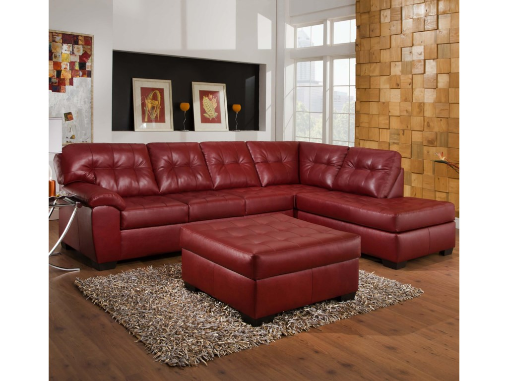Simmons Upholstery 9569Stationary Living Room Group