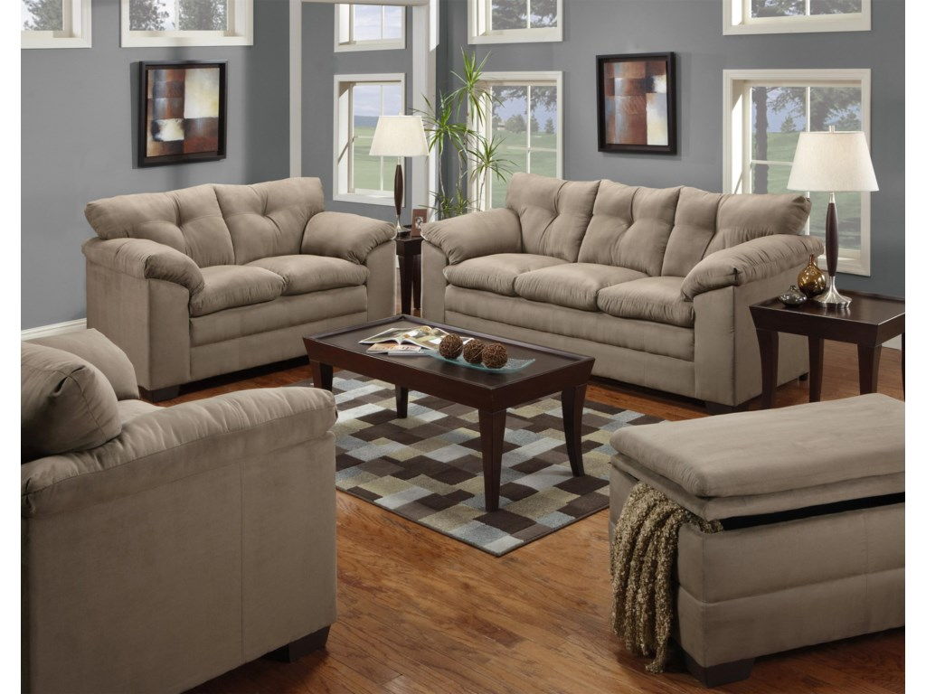 United Furniture Industries 6565Stationary Living Room Group