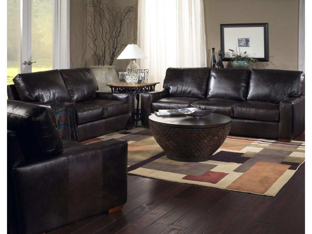 USA Premium Leather 2655Stationary Living Room Group