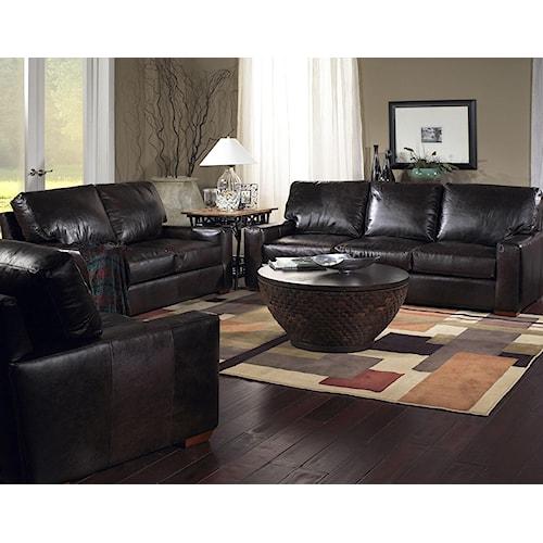 USA Premium Leather 2655 Stationary Living Room Group