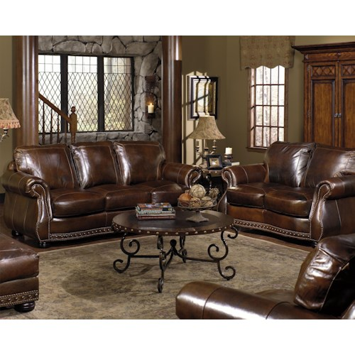 USA Premium Leather 8755 Stationary Living Room Group