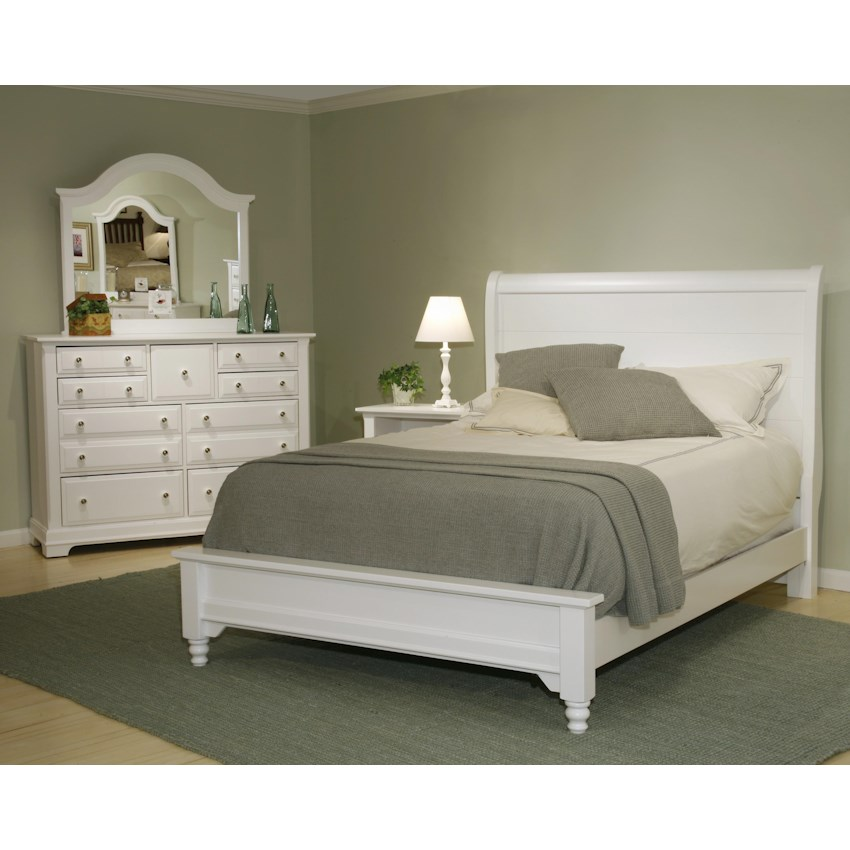 height sleigh white style width bed cottage cottages products hills hillsqueen trim queen vaughan rustic bassett threshold collection item