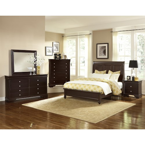 Vaughan Bassett French Market Queen Bedroom Group