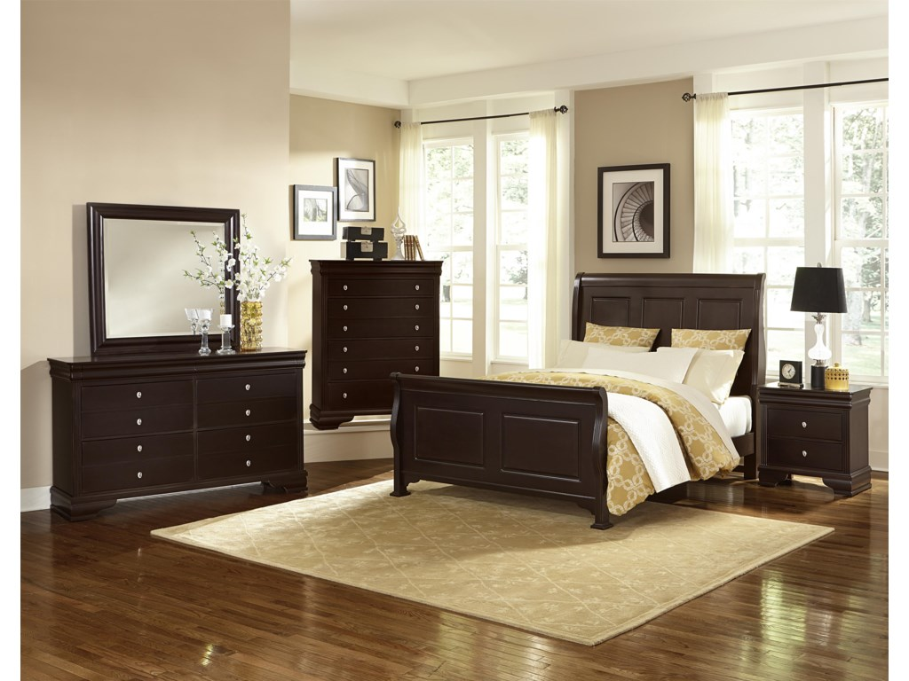 Queen Size Bed Shown. King Size Headboard Has 4 Panels.