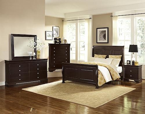 Vaughan Bassett French Market Queen Bedroom Group