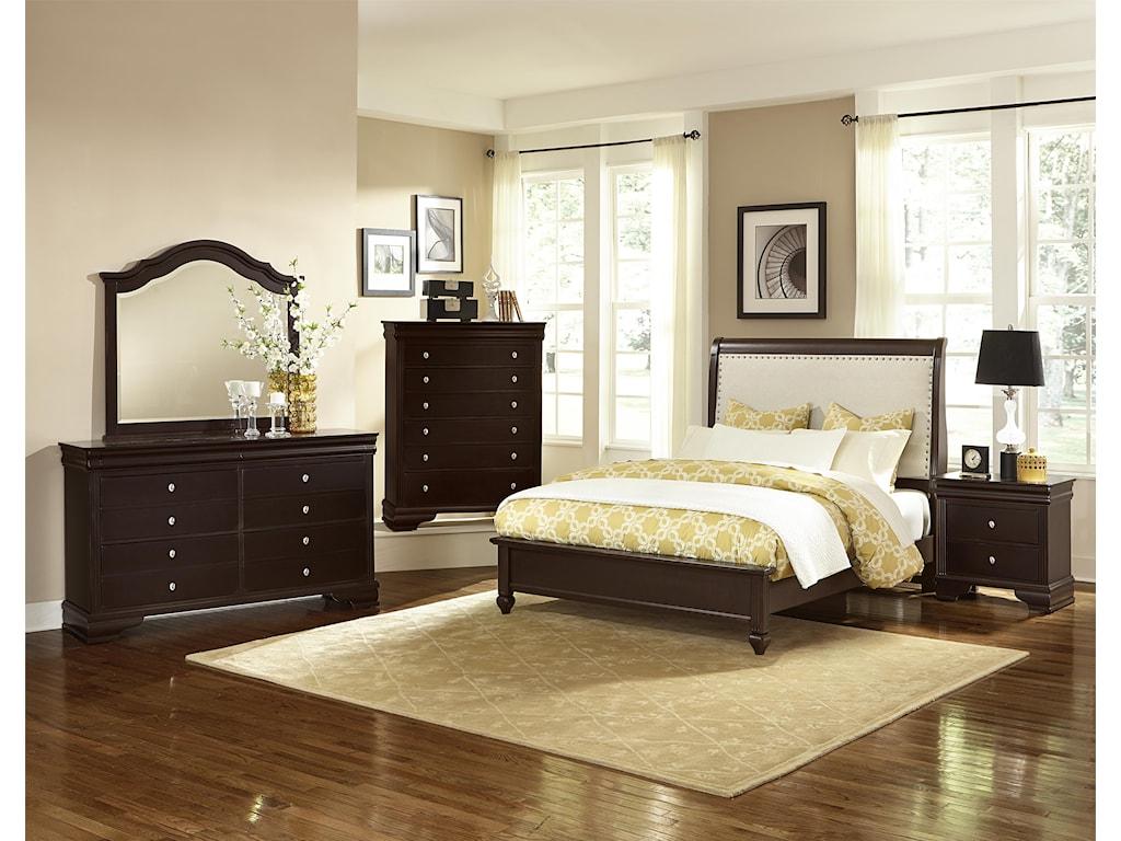 Vaughan Bassett French MarketKing Bedroom Group