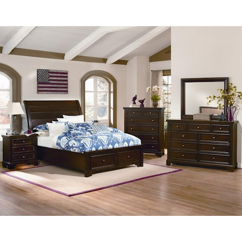 Vaughan Bassett Hanover Full Bedroom Group