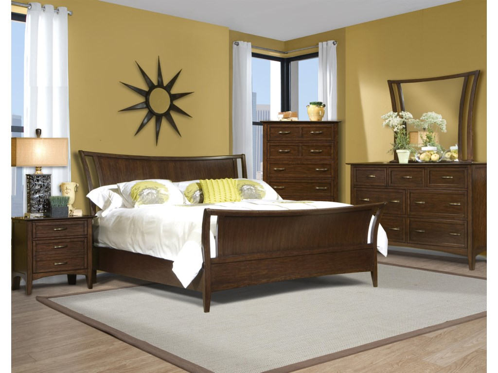 Vaughan Furniture Stanford HeightsKing Sleigh Bedroom Group