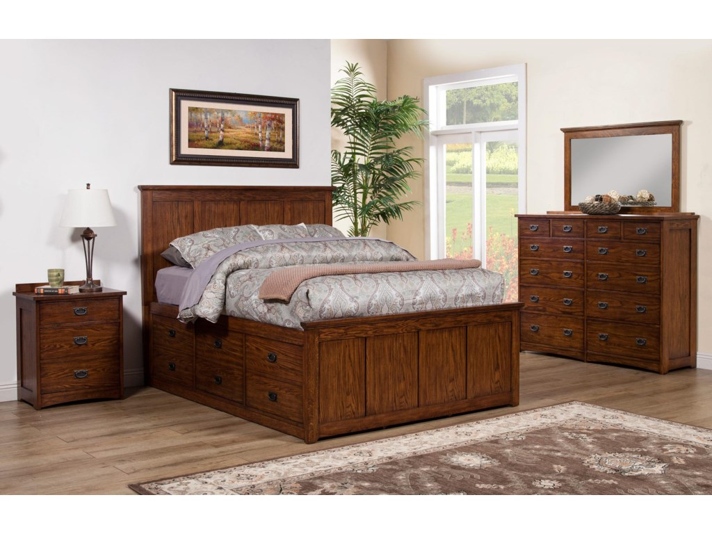 Winners Only Colorado Queen Bedroom Group | Dunk & Bright Furniture ...