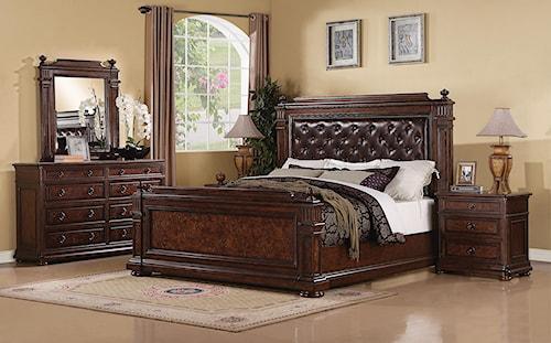 Flexsteel Wynwood Collection Aberdeen King Bedroom Group