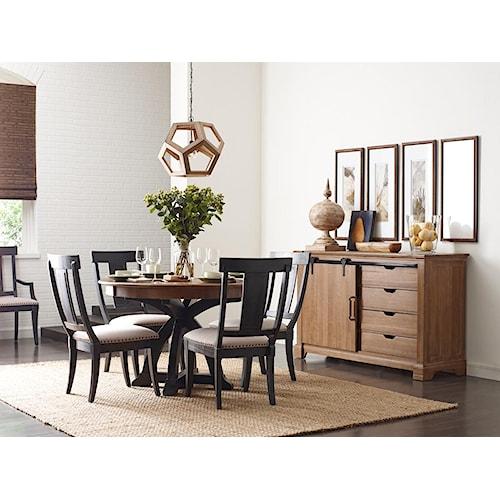 kincaid furniture stone ridge casual dining room group. Black Bedroom Furniture Sets. Home Design Ideas