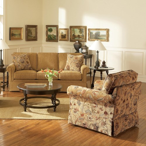 Broyhill furniture audrey stationary living room group for Living room furniture groups