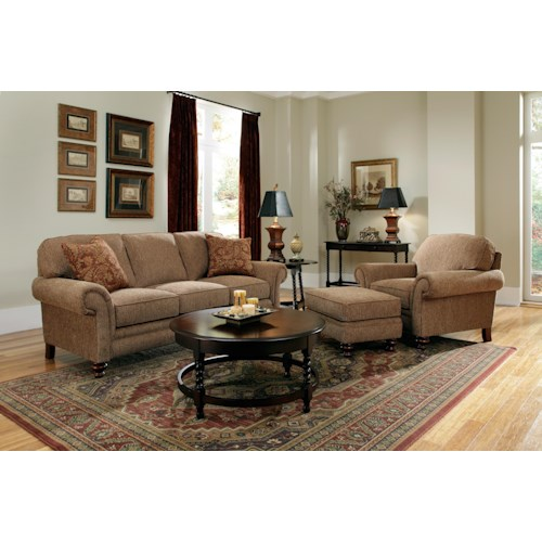 Broyhill furniture larissa stationary living room group for Living room furniture groups