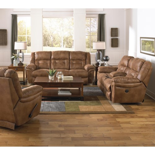 Catnapper joyner reclining living room group wilson 39 s for Living room furniture groups