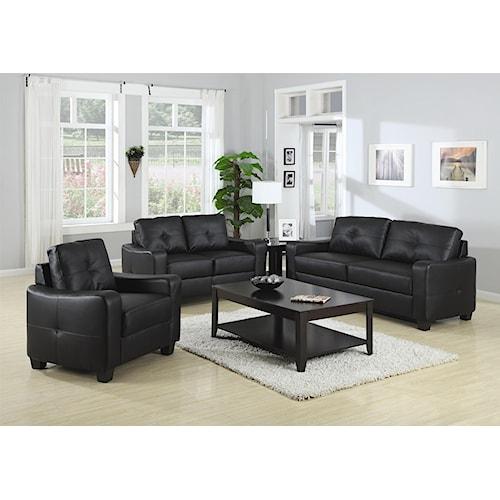 Coaster Jasmine Stationary Living Room Group Nassau