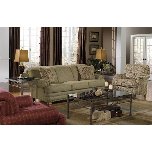 Craftmaster 728150 Stationary Living Room Group Belfort Furniture Station