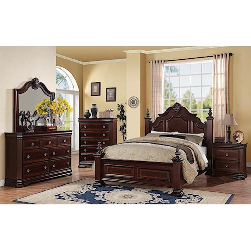 Crown Mark Charlotte King Bedroom Group Bullard Furniture Bedroom Group Fayetteville Nc