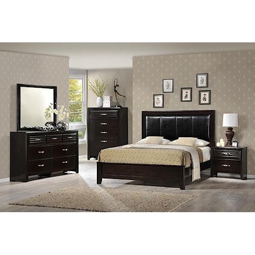 Crown Mark Jocelyn Queen Upholstered Bedroom Group Bullard Furniture Bedroom Groups