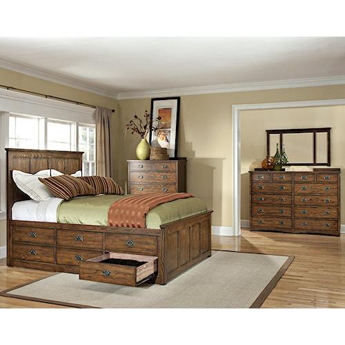 home bedroom group intercon oak park queen bedroom group
