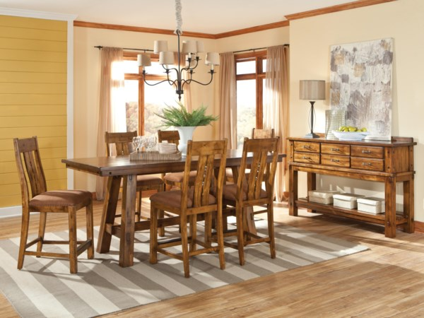 casual dining room group eugene springfield albany. Black Bedroom Furniture Sets. Home Design Ideas