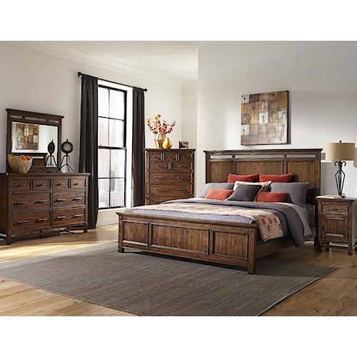 Intercon wolf creek queen bedroom group furniture for Bedroom furniture orange county