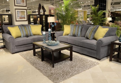 Jackson furniture anniston stationary living room group for L fish furniture