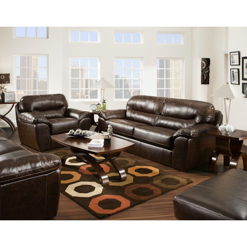 Jackson furniture brantley stationary living room group for L fish furniture indianapolis