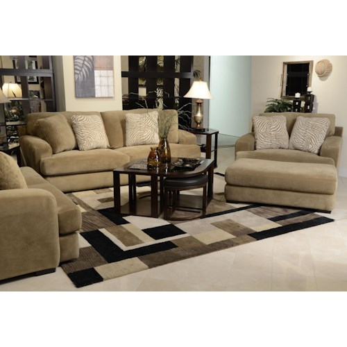 Jackson furniture palisades stationary living room group for Living room furniture groups