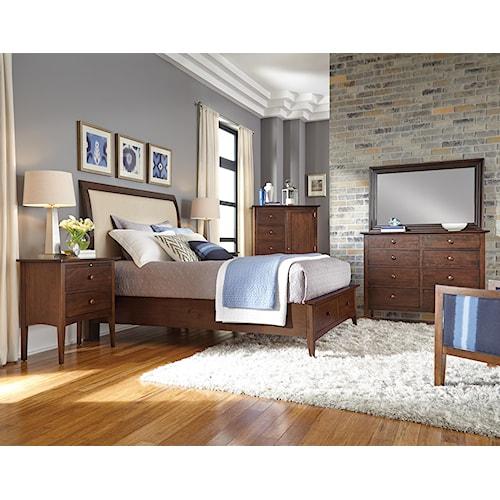 Kincaid furniture gatherings queen bedroom group belfort for Kincaid american journal bedroom furniture