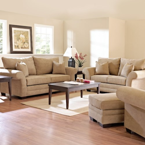 Klaussner Holly Stationary Living Room Group Wayside Furniture Stationary