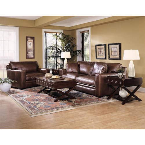 Klaussner homestead stationary living room group sheely for Homestead furniture and appliances