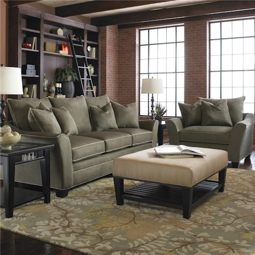Klaussner Posen Stationary Living Room Group Colder 39 S Furniture And Appliance Stationary