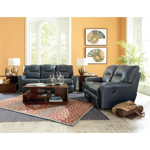 La z boy easton reclining living room group bullard for Living room furniture groups