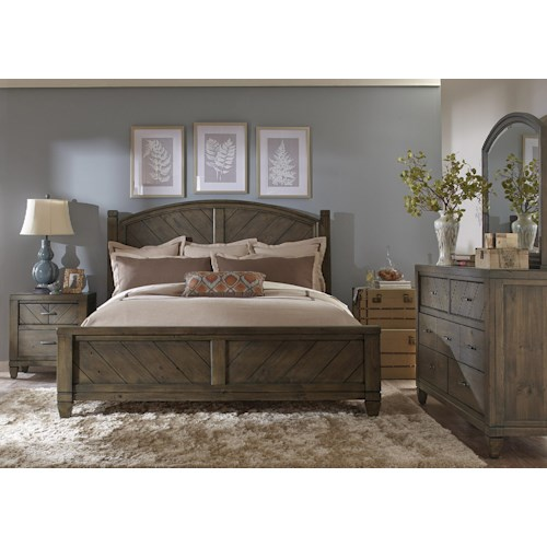 Liberty furniture modern country queen bedroom group for Country bedroom furniture