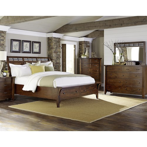 Warehouse M Whistler Retreat Queen Bedroom Group Pilgrim Furniture City Bedroom Groups