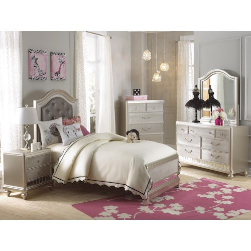 Samuel Lawrence Lil Diva Twin Bedroom Group Value City