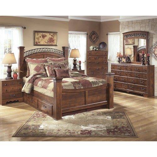 Signature Design By Ashley Timberline Queen Bedroom Group Story Lee Furniture Bedroom