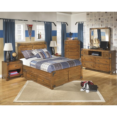 Signature Design By Ashley Delburne Full Bedroom Group Reid 39 S Furniture Bedroom Group