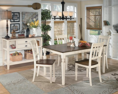 signature design by ashley whitesburg casual dining room. Black Bedroom Furniture Sets. Home Design Ideas