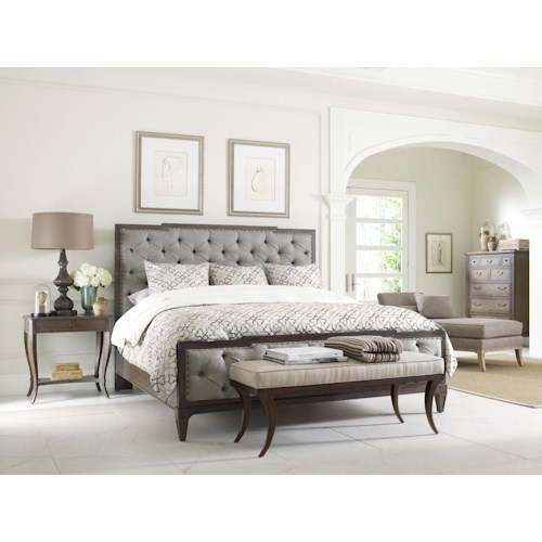 Thomasville harlowe finch queen bedroom group dubois for Harlowe bed