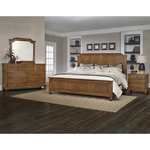 Vaughan bassett arrendelle queen bedroom group value for Bedroom furniture groups
