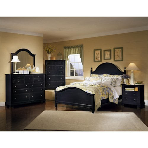 Vaughan bassett cottage king bedroom group belfort for Furniture 0 down